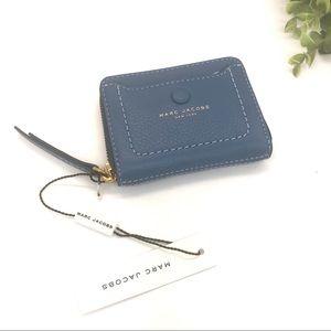Marc Jacobs Empire City Zip Card Case Mali Blue